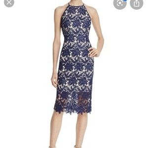 Keepsake the Label Navy Lace Midi Dress M A094